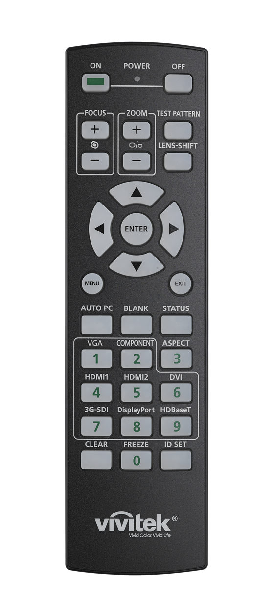 Vivitek DU8090Z Remote Lights Off